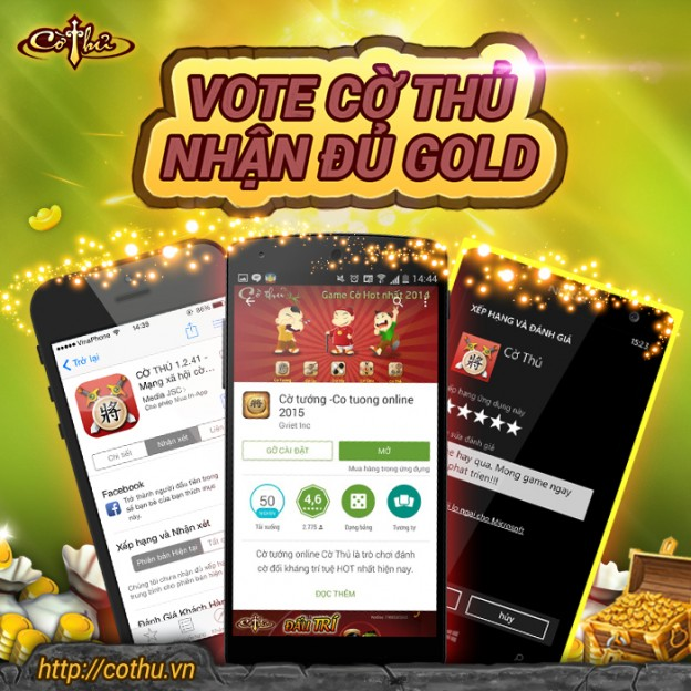 Vote game nhận gold